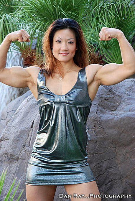 Chinese-American bodybuilder  quot Lili quot  Xin Li Cao  or Cao Xin Li Xin Li Cao Muscle