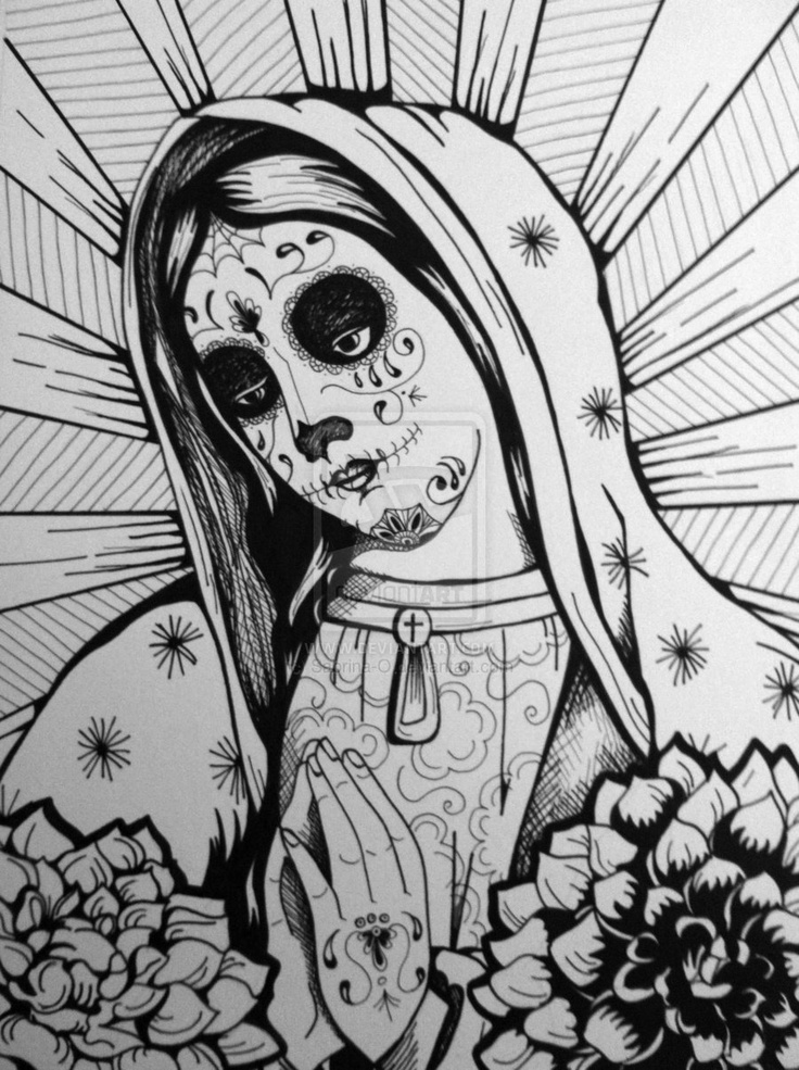 34 best lady of guadalupe images on pinterest skulls day of dead and tattoo ideas. Black Bedroom Furniture Sets. Home Design Ideas