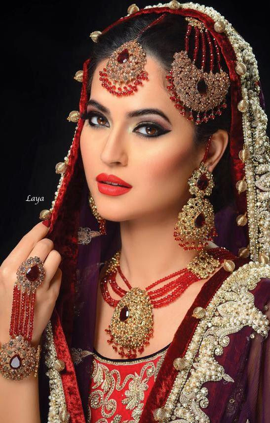 Bridal Beauty❋Indian Bride❋Laya http://www.cuetheconversation.com/