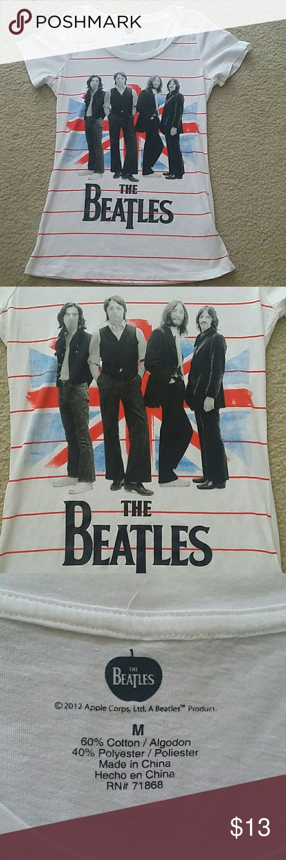 Fitted The BEATLES T-shirt Excellent condition! Worn and washed twice. Fits more like a small the Beatles Apple Corps Tops Tees - Short Sleeve