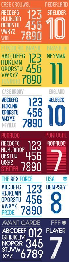 Type & Lettering FIFA World Cup fonts, Nike, 2014