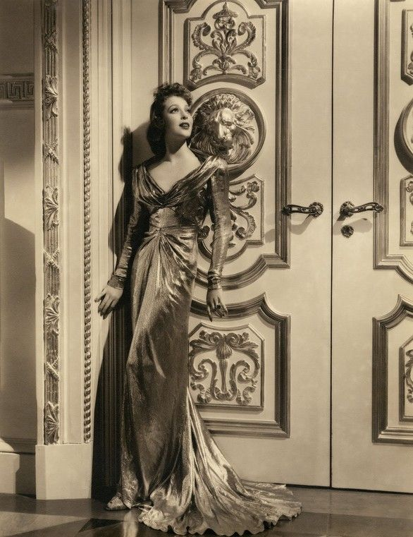 Loretta Young in a classic glamour dress.