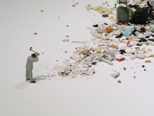 Liliana Porter - Man with axe / http://lilianaporter.com #installation #miniature