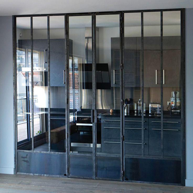 fen tre d 39 atelier avec double porte int gr e verde pinterest photo wall lofts and window. Black Bedroom Furniture Sets. Home Design Ideas