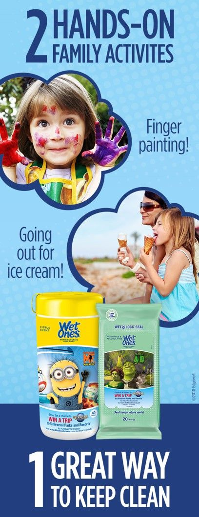 The possibilities for good clean fun are endless with Wet Ones® Antibacterial Hand Wipes! They kill 99.99% of germs and wipe hands clean. Keep them with you wherever you go. Specially-Marked Wet Ones® Canisters & Travel Packs, featuring three of Universal Parks & Resorts™ hit attractions, are now available. Bonus! Enter the Wet Ones® Ultimate Summer Vacation Sweepstakes for the chance to win a trip to your choice of either Universal Studios Hollywood™ or Universal Orlando Resort™. NoPurNec…