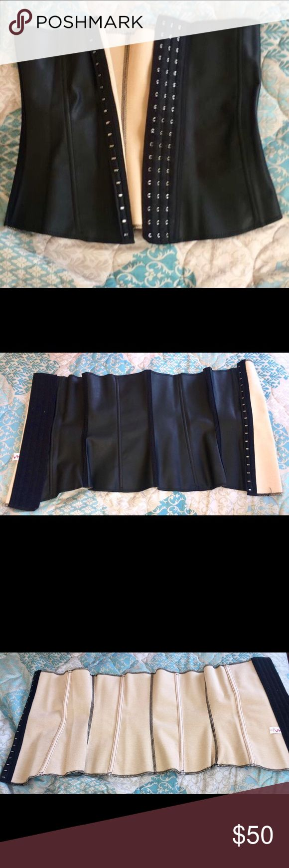 Black Silhouette Girdle/Corset/Waist Slimmer Black Silhouette Girdle/Corset/Waist Slimmer. Brand new, never been used, comes with their own bag. Sizes available M, L. Girdle is infused with aromatherapy to reduce hunger. Girdle has three positions in where to close. Girdle helps with waist slimming and good posture and with medical permission it could be used after pregnancy or surgery to help back or abdominal region. Peter Pan Lenceria-Peru Intimates & Sleepwear Shapewear