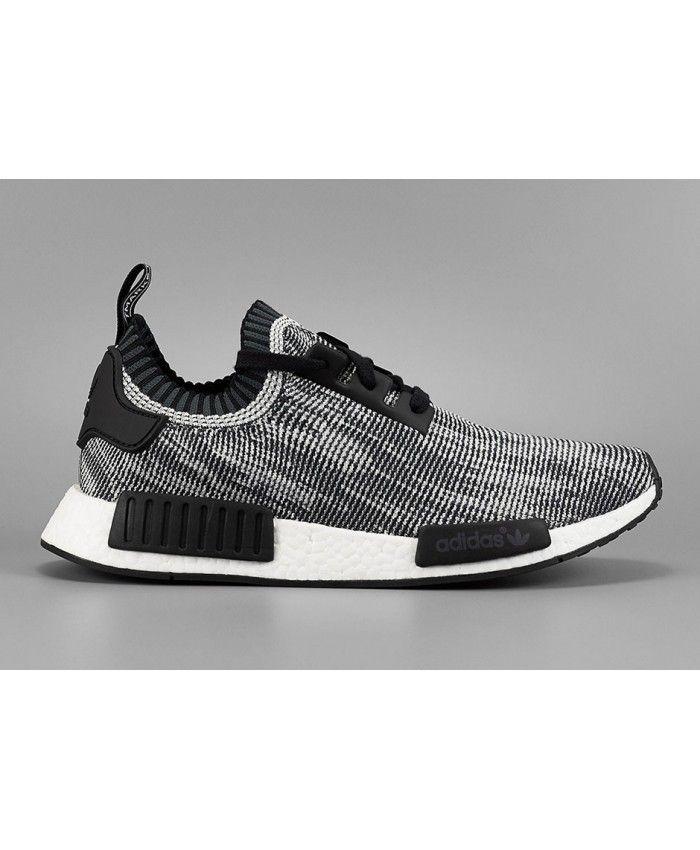 sale retailer 535ef c8ad3 Cheap Adidas NMD R1 Primeknit Gray Black