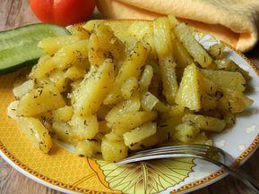 Reteta culinara Cartofi inabusiti cu cimbru si usturoi din categoria Mancaruri de post. Cum sa faci Cartofi inabusiti cu cimbru si usturoi
