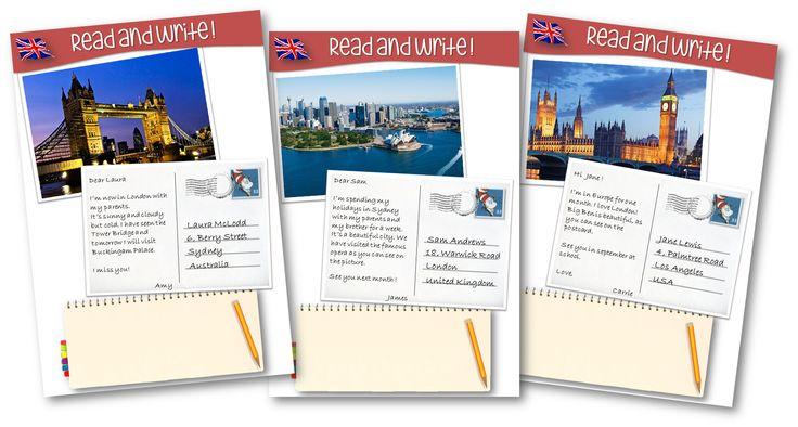 Des cartes postales de pays anglophones pour lire et écrire en anglais - Teacher Charlotte