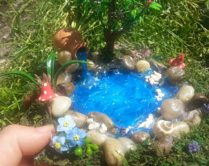 Fairy Garden stagno, stagno di fata, miniatura stagno, accessorio Fairy Garden, giardino in miniatura dello stagno, giardino in miniatura accessorio, Fairy Garden Kit