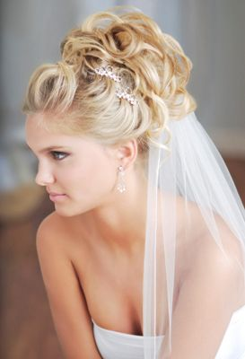 Wedding Hairstyle I dont hate this...kinda like the veil, actually