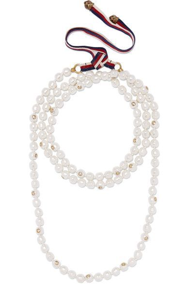 Gucci - Faux Pearl And Gold-tone Necklace - Ivory