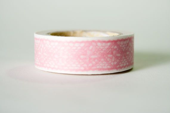 Pink Lace Washi Tape by HexagonInc on Etsy, $3.50