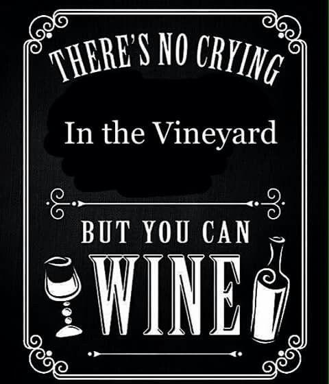 No crying....Wining allowed though.. #winefixin' #Wine@Bit #BandW (Wine Bottle & glass Typography Art)