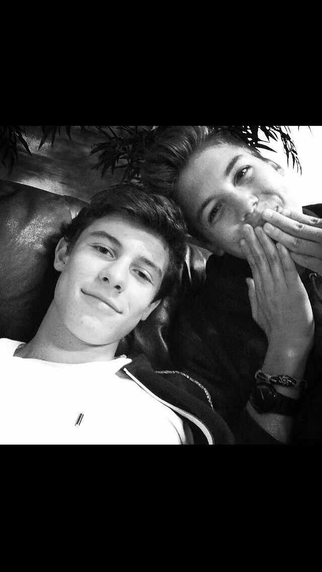 Shawn Mendes and Matt Espinosa. The cuteness game is strong in this picture. I can't
