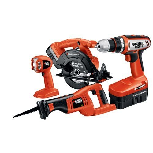 Save $ 157.05 order now Black & Decker CD418C-2 18-Volt 4-Tool Combo Kit at