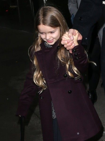 Harper Beckham Photos Photos - The Beckham family out and about in New York City, New York on February 12, 2017. David was spotted with his children Brooklyn, Romeo, Cruz and Harper. - David Beckham With His Kids In NYC