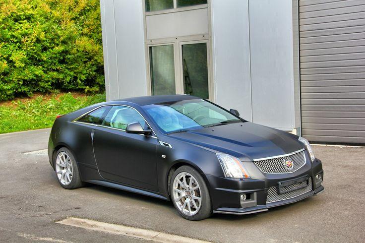 Cadillac Cts Matte Black Carwrap Carwraps By Signature