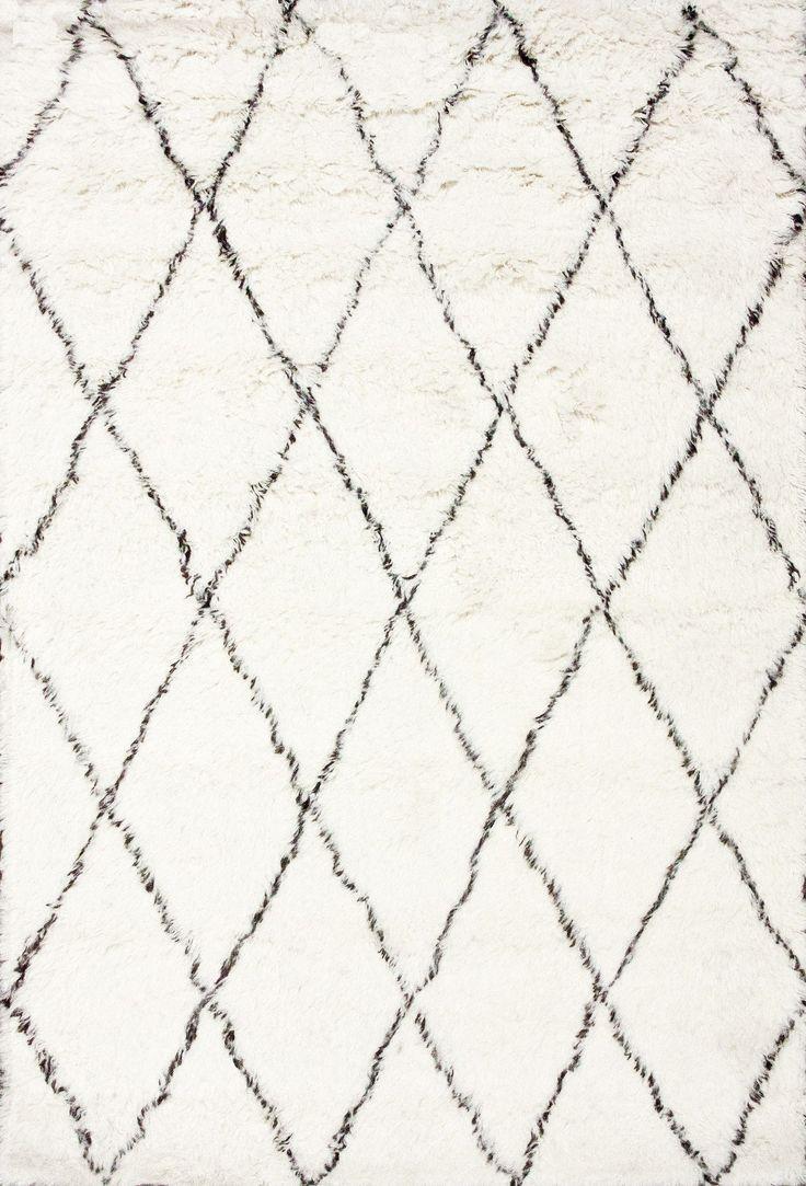 nuLOOM Moderna Ivory Moroccan Shag Area Rug & Reviews | Wayfair