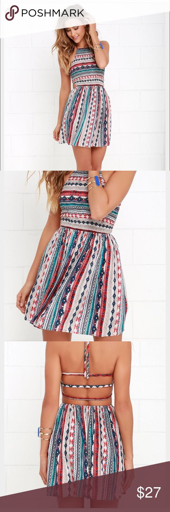 Lulus pattern dress Great dress for festivals and summer! I got this from Lulus, loves it, took off the tags and then reevaluated and have decided it's a bit too short for me ( I'm 5'8). Lulu's Dresses