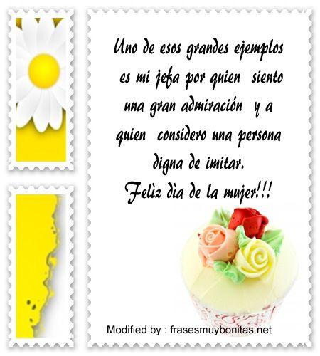 los mejores mensajes y tarjetas por el dia de la mujer,descargar bonitas dedicatorias por el dia de la mujer: http://www.frasesmuybonitas.net/frases-para-dedicar-a-tu-jefa-por-el-dia-de-la-mujer/