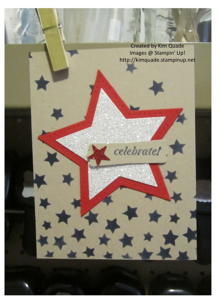 Stampin' Up! Stars Framelits, Decorative Masks, And Many More, Silver Glimmer Paper, Red Glimmer Paper http://www.kimplayswithpaper.com/home/fun-with-the-fourth