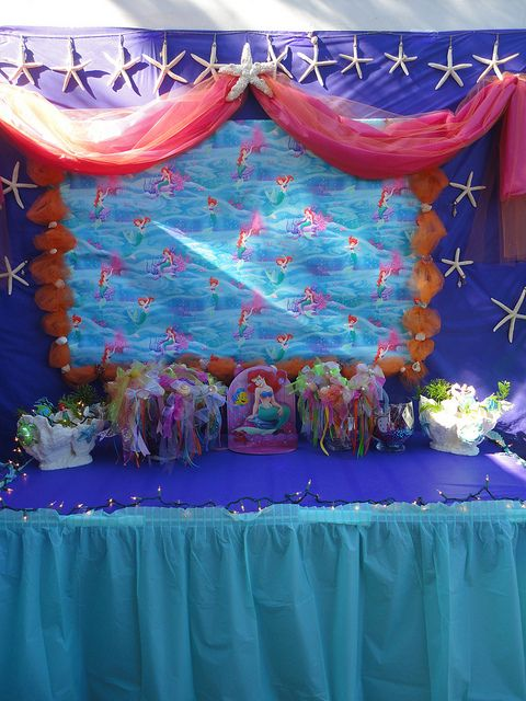 100 best little mermaid images on pinterest birthdays for Ariel decoration ideas