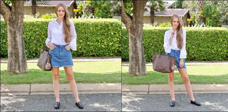 Shirt and Skirt- Mr. Price Bag - Louis Vuitton  Loafers- Witchery