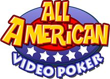 All American video poker logo. Play Video poker slot machine games