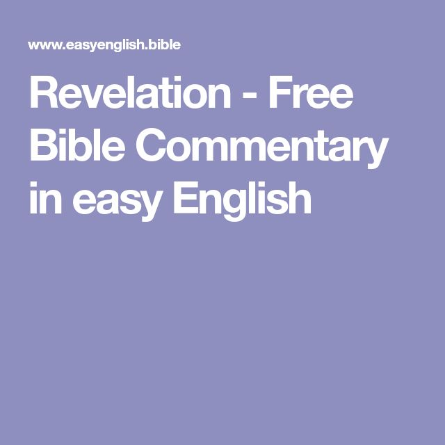 Revelation - Free Bible Commentary in easy English