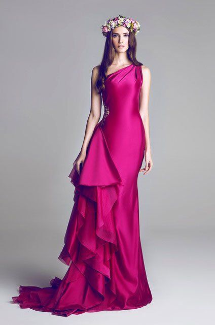 Wedding Gowns by Hamda Al Fahim | SS 2013 - Aisle Perfect #fuschia