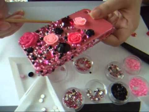 DIY Bling phone case really easy just glue a toothpick patience and watever u want to use to decorate it :)