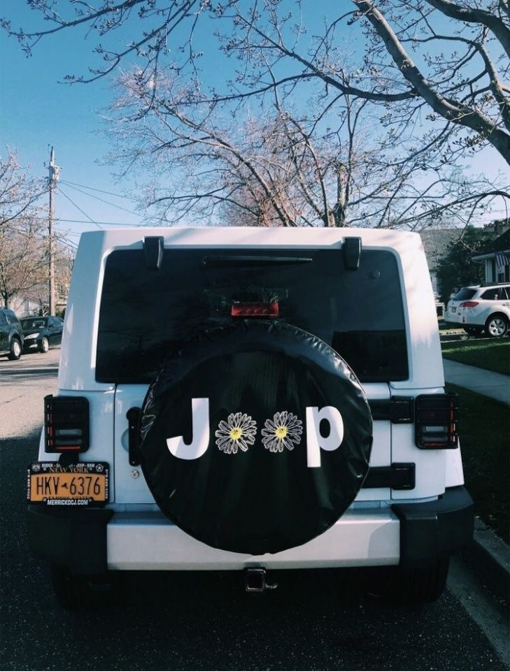 Jeep Daisy Tire Cover Dream Cars Jeep Cute Cars Jeep Tire Cover