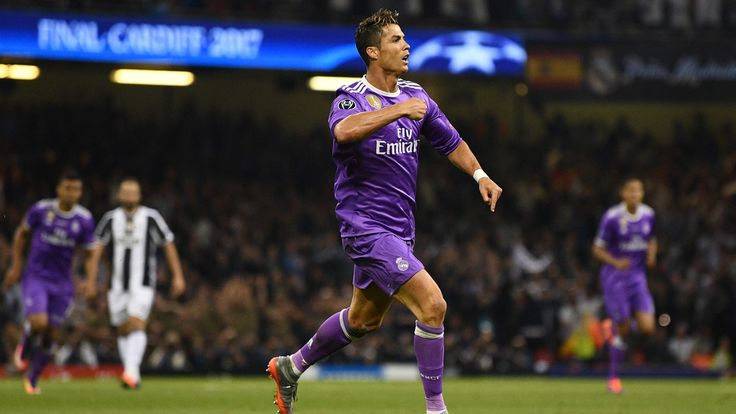 Cristiano Ronaldo has become the first player to score in three UEFA Champions League finals with his 20th-minute goal for Real Madrid against Juventus in Cardiff.