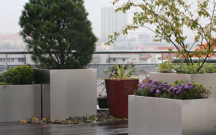 pobytová soukromá střešní zahrada / residential private roof garden