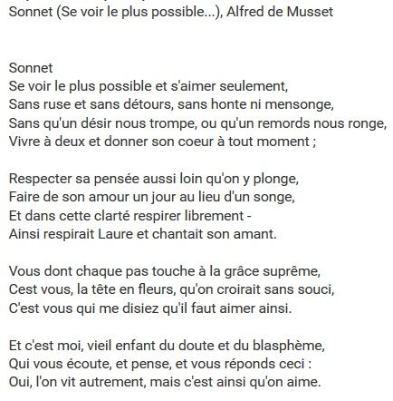 Alfred de Musset - Se voir le plus possible... | https://www.youtube.com/watch?v=8ssTVbBZu4s