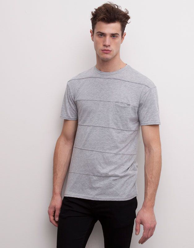 Pull&Bear light grey shirt