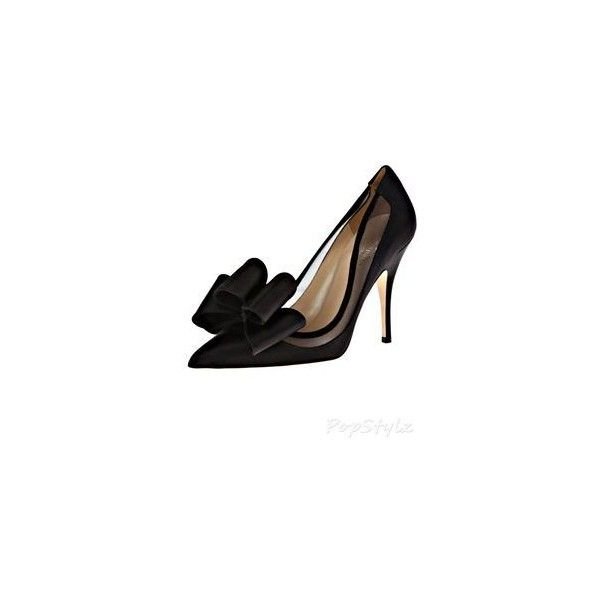 kate spade new york lovely satin bow pump, black ❤ liked on Polyvore featuring shoes, pumps, kate spade, kate spade pumps, black court shoes, black shoes and kohl shoes