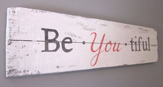BeYOUtiful - Handpainted wood sign