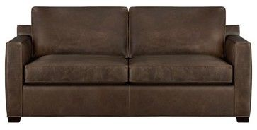 GUEST BR:  SLEEPER/SOFA   You can never go wrong with leather and the guest bedroom is nice and bright and airy so it would take this darker color.  Wouldn't this look GREAT with those turquoise tropical pillows?  YES...it WOULD!  :-))  sleeper sofas tropical | Davis Leather Queen Sleeper Sofa - contemporary - sofas - - by Crate ...