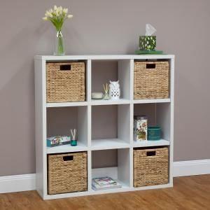 9 Cube Storage Shelf - White