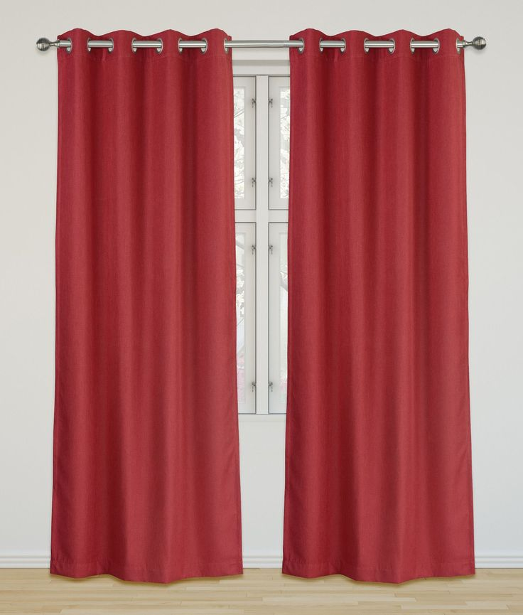 Eclipse  Room Darkening and Insulating Grommet Curtain Panels Set