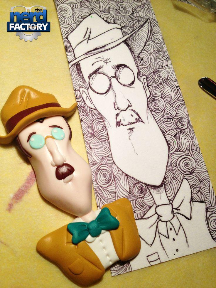 James Joyce fimo Handmade!