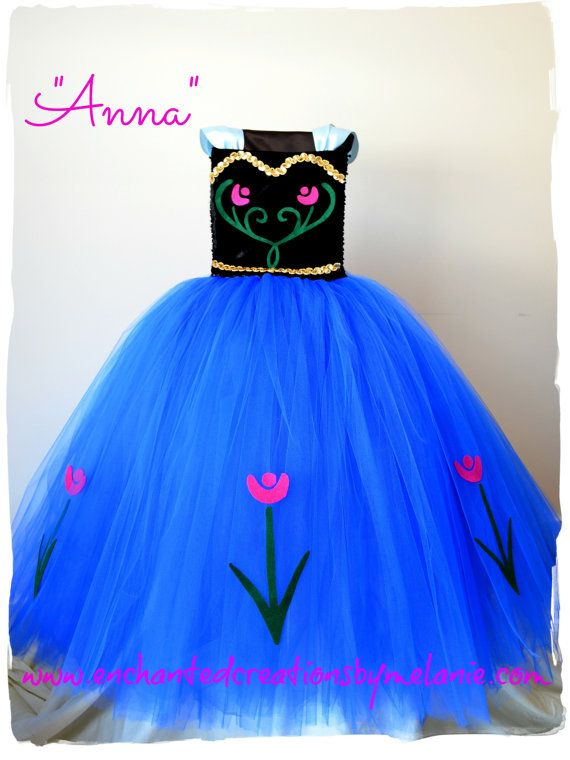 "Anna Tutu Dress with Cape - From the Disney movie ""Frozen"" on Etsy, $110.00"
