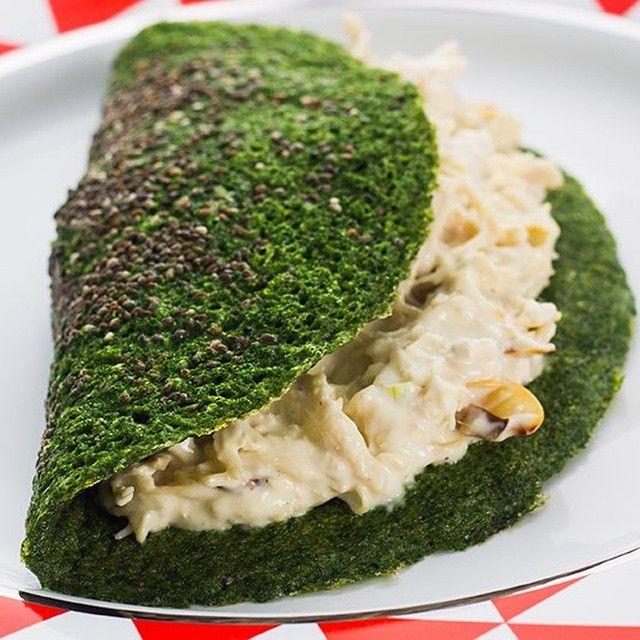 crepioca de espinafre
