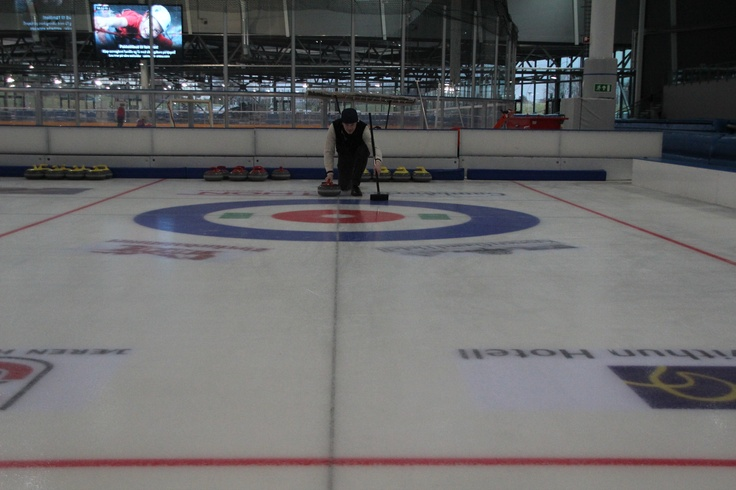 Winter = fun on ice!  Enjoy curling and ice skating together with friends! #ice #fun #winter #regionstavanger #norway