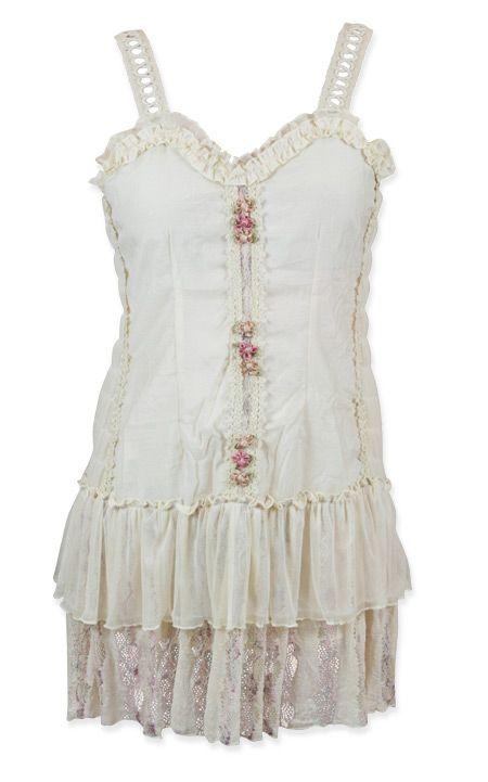 Fleurinda Dress - Cream Flower