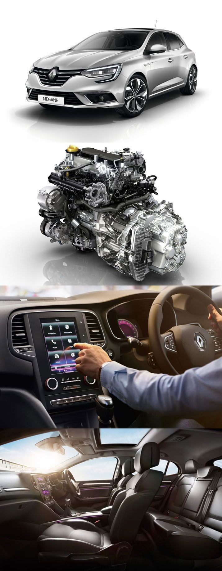 The all new renault megane with stunning features renaultmegane renaultmeganeengine touchscreentechnology