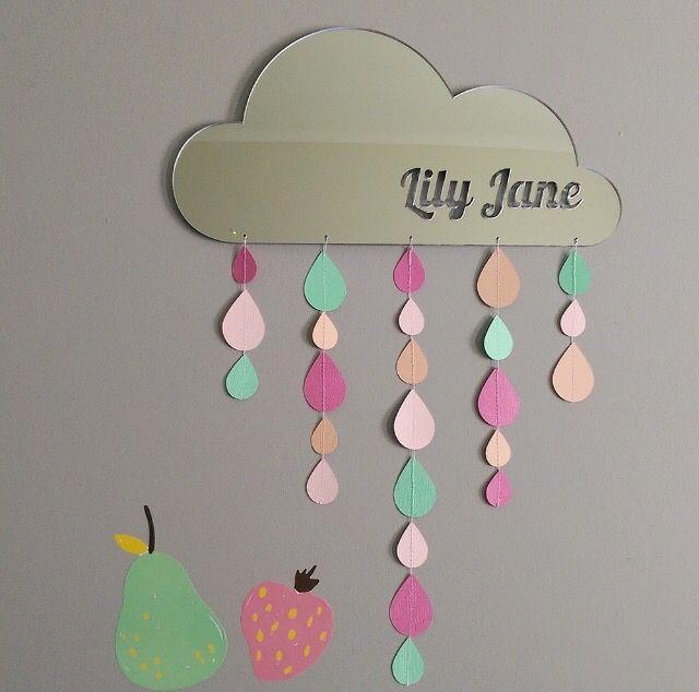Arlo and Co rain cloud mirror