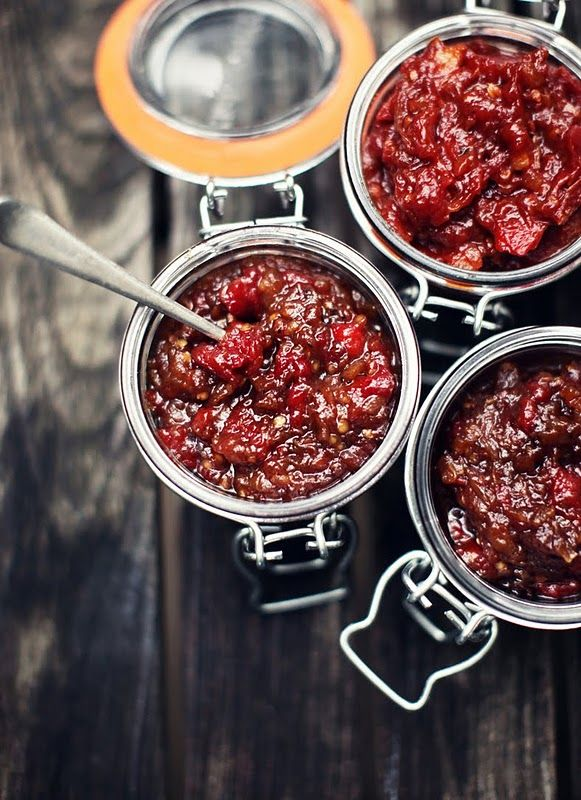 spicy vine tomato relish // what katie ate